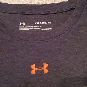 Under Armour Shirts & Tops - Under Armour Boys YXL loose Gray Camo prove it